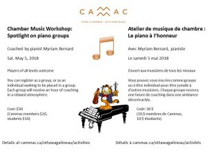 Piano workshop poster
