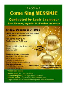 Come Sing Messiah poster