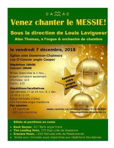 Affiche Venez chanter le Messie