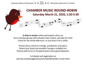 Chamber round robin poster